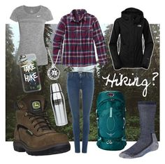 "Exciting >> ""Hiking Outfit"" by closet-of-a-teenage-athlete ❤ liked on Polyvore f..."