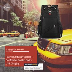 Business Laptop Backpack 17 Inch by Piketo – Men's and Women's Travel Backpack Bag – Multiple Practical Pockets – Heavy Duty Sturdy Zippers – Comfortable Padded Back – USB Charging & Waterproof Laptop Backpack, Travel Backpack, Backpack Bags, Business Laptop, Business Travel, 17 Inch Laptop, Anti Theft Backpack, Lightweight Backpack, City Break