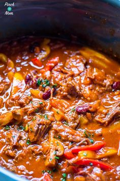 Mexican Chilli Beef - Pinch Of Nom Slimming Recipes Chilli Beef Recipe, Chilli Recipes, Beef Recipes, Mexican Food Recipes, Cooking Recipes, Healthy Recipes, Healthy Dinners, Recipies, Mexican Tapas