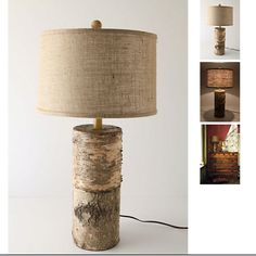I'm thinking the little stump I have might make a pretty, one-of-a-kind lamp...