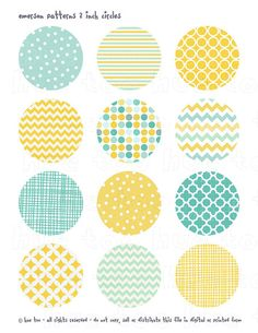 Browse unique items from huetoo on Etsy, a global marketplace of handmade, vintage and creative goods. Textile Pattern Design, Textile Patterns, Print Patterns, Bottle Cap Images, Simple Doodles, Journal Stickers, Circle Shape, Printable Stickers, Wall Art Sets
