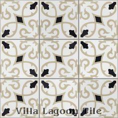 """Charlotte Primero"" Cement Tile, from Villa Lagoon Tile."