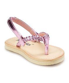 Love this Pink Braided Sandal on #zulily! #zulilyfinds