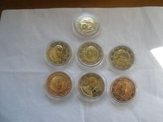 Vatican City – 2 Euros – 7 coins from 2005-2011