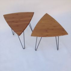 Pair side tables, by Studio1212Furniture on Etsy