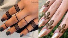 Tribal Henna Designs, Pretty Henna Designs, Mehndi Designs For Kids, Rose Mehndi Designs, Henna Tattoo Designs Simple, Simple Arabic Mehndi Designs, Finger Henna Designs, Mehndi Designs Feet, Latest Bridal Mehndi Designs