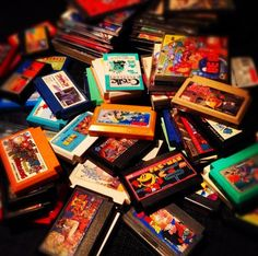 Famicom cartridges and various other retro games #Retro #Gaming #Famicom #Cartridge #Nintendo
