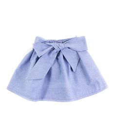Another great find on #zulily! Light Blue Sash Chambray Skirt - Infant by Trendy Ties #zulilyfinds