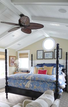 a Coastal Master Bedroom by Barclay Butera