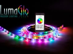 LumaGlo Freedom Lighting: Bluetooth-enabled LED strips by Randy Lathrop — Kickstarter.  The world's first smart, fully modular, multicolored LED lighting strip that is Bluetooth controlled by your iPhone or Android device.