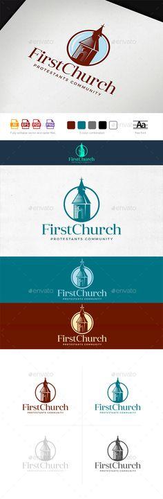 First Community Church Logo Template