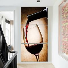 Pattern: Wine Style: Modern Material: Canvas Available Framed and Unframed Glass Wall Art, Stained Glass Art, Canvas Wall Art, Wine Painting, Bottle Painting, Wine And Canvas, Chenin Blanc, Wine Art, Wine Wall Art