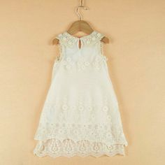 Vintage Lace and Pearls Dress. Perfect for rustic flower girls