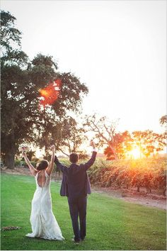 Yay we are married portraits! Captured By: Alison Yin http://www.weddingchicks.com/2014/06/09/dog-gone-darling-wedding/