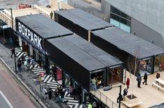 BoxPark à Londres : un centre commercial composé de 60 containers
