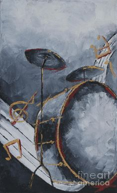 Drums Painting by Kanchan Mehendale