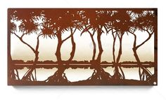 Earth de Fleur Homewares - Pandanus Laser Cut Steel Wall Art