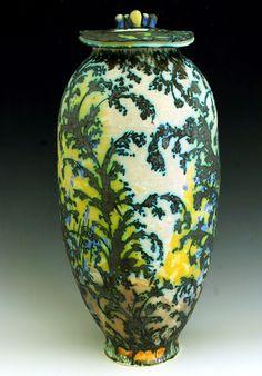 Sunny Vintage Oriental Style Porcelain Vase By Scientific Process Antiques Vases