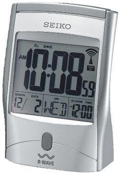 Seiko QHR001SLH Get up and Glow R-Wave Atomic Alarm Clock