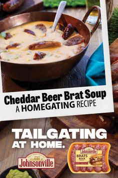 Bratwurst Recipes, Beer Recipes, Fall Recipes, Crockpot Recipes, Soup Recipes, Cooking Recipes, Beer Brats, Beer Cheese Soups, Beer Soup