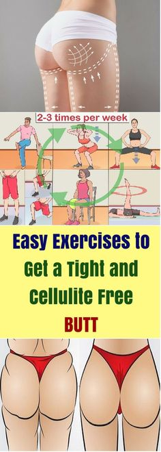 Easy Exercises to Get a Tight and Cellulite Free Butt