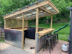 Outdoor Grill Area, Outdoor Grill Station, Grill Gazebo, Outdoor Kitchen Patio, Outdoor Living, Pergola, Backyard Pavilion, Backyard Bar, Backyard Landscaping