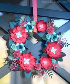 Craft Room Organized & paper wreath project | Jenallyson - The Project Girl - Fun Easy Craft Projects including Home Improvement and Decorating  #MichaelsMakers