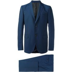 Gucci Monaco Suit ($2,450) ❤ liked on Polyvore featuring men's fashion, men's clothing, men's suits, gucci mens suits, mens blue slim fit suit, mens blue suit, mens slim fit suits and mens slim suits