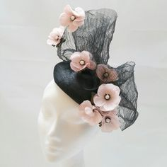 Cherry blossom and crin hat Fascinators, Cherry Blossom, Anna, Brooch, Hats, Stuff To Buy, Horsehair, Hat, Cherry Blossoms