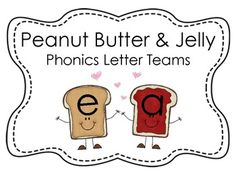 Teacher Spice and Everything Nice: Peanut Butter and Jelly Vowel Team Posters Phonics Reading, Teaching Reading, Teaching Ideas, Word Study, Word Work, Teaching First Grade, Classroom Ideas, Classroom Resources, Future Classroom
