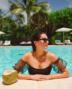 Fashion Look Featuring Karla Colletto One-Piece Swimwear and Bobbi Brown Sunglasses by BrittanyXavier - ShopStyle Pool Poses, Beach Poses, Beach Photography Poses, Summer Photography, Lake Pictures, Pool Picture, Bikini Poses, Outfit Trends, Summer Pictures