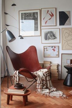 Accent Chairs For Living Room, Butterfly Chair, Cosy, Autumn, Bedroom, Instagram Posts, Leather, Furniture, Home Decor