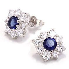 Blå rosetørestikker i sølv