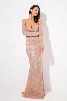 0e81914bd74a Saffron Sequin Luxe Gown