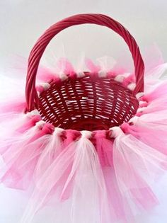 Tutu Easter Basket Tutorial - The Ribbon Retreat Blog, I could make this for my god daughter