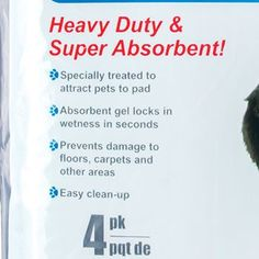"Heavy-Duty Pet Training Pads, 22x22"", 4-ct. Pack"