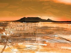 ' Table Mountain Journal ' - Art Photography Table Mountain Journal - A chromatic impression of famous landmark, Table Mountain in Cape Town; Africa Photography, Mountain Print, Abstract Landscape Painting, Landscape Photography, Digital Art Photography, Photography Prints Art, Landscape Prints, Beautiful Landscapes, Landscape Art