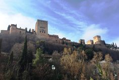 The ancient and beautiful Alhambra Palace Granada, Andalucia, Spain