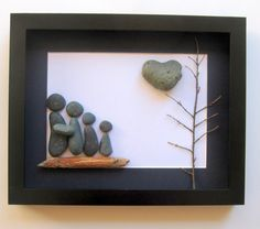 Unique Family Gift and Customized Art Work - Personalized Pebble Art on Etsy, $65.00 CAD