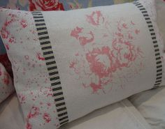 ReD FRencH TOiLE CottaGe RoSeS TicKinG and by Sassycatcreations, $35.00