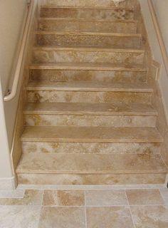travertine stair treads - Google Search