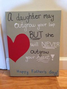 Father's Day Canvas by PaintingWifey on Etsy, $25.00