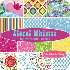 Floral Whimsy Fat Quarter Bundle Northcott Fabrics - Fat Quarter Shop?.. Melissa would love all of these.