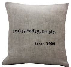 wedding/anniversary pillow