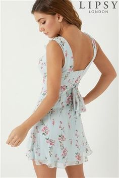 0b1a62dd9c Buy Lipsy V neck Ruffle Floral Dress from the Next UK online shop