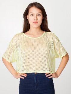 mesh tee for cheap in chartreuse!