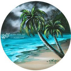 In today's video, I'm showing you how to paint a simple beach scene with palm trees! I'm using Liquitex basics (amazon affiliate links) a round fredrix canvas I added two coats of…