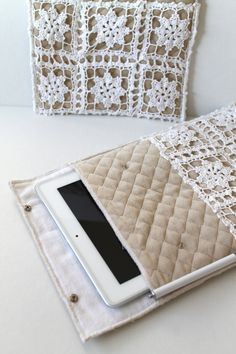 iPad CASE SLEEVE HANDMADE Padded with Flap Snap