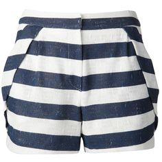 O`2nd 34 Navy Shorts ($175) ❤ liked on Polyvore featuring shorts, bottoms, pants, short, navy, short shorts, zipper shorts, cotton shorts, zipper pocket shorts and navy shorts