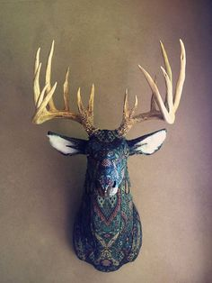 Little Stag Studio deer head decor made from recycle fabric!